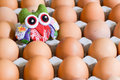 Egg around doll what are the different tracks in the eggs Royalty Free Stock Images