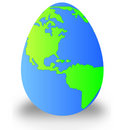 Egg as earth Royalty Free Stock Photo