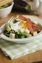 Egg and bacon salad Stock Photo