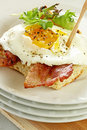 Egg and Bacon on Toast Royalty Free Stock Images