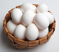 Egg in basket Royalty Free Stock Photo