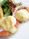 Egg benedicts with salmon Royalty Free Stock Photography