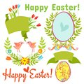 Egg, birds, flowers, easter Royalty Free Stock Image