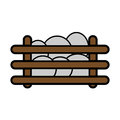 Egg cattle icon
