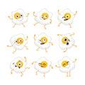 Egg Character - vector set of mascot illustrations.
