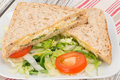Egg and cress sandwich Royalty Free Stock Photo