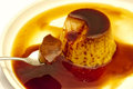 Egg custard with caramel sauce Royalty Free Stock Image
