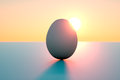 Egg eclipsing the sun Royalty Free Stock Images