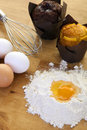 Egg flour getting ready bake more cakes Stock Image
