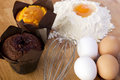 Egg flour getting ready bake more cakes Royalty Free Stock Photo