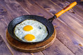 Egg in Frying Pan Royalty Free Stock Photo