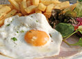 Egg Ham and Chips Stock Images