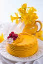 Egg liquor cake a fresh Royalty Free Stock Photos