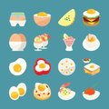 Egg menu from food icons Royalty Free Stock Photos