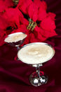 Egg Nog with Poinsettia  Royalty Free Stock Photos