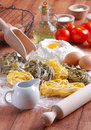 Egg noodles Stock Photo