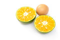 Egg and orange Stock Image