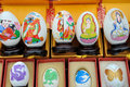 Egg painting on various culture visualize Stock Photography
