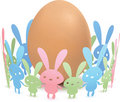 Egg and Paper Rabbit Stock Images