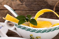 Egg pasta and sage italian cuisine ingredients detail papardelle in ceramic pot Stock Photography