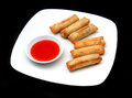 Egg Rolls Stock Photo