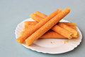 Egg rolls in Plate Royalty Free Stock Images