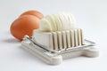 Egg slicer boiled eggs Stock Images