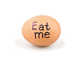 Egg with a slogan Royalty Free Stock Photography