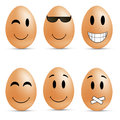 Egg smileys vector illustration funny Stock Photo
