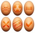 Egg Symbols Royalty Free Stock Photos