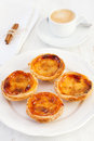 Egg tarts on the plate Royalty Free Stock Photography