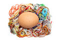 Egg and threads Stock Photography