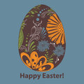 Egg vector picture with floral easter Royalty Free Stock Images