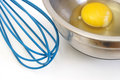 Egg and Whisk Royalty Free Stock Photos