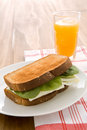 Egg white sandwich Stock Photography