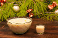 Eggnog bowl Royalty Free Stock Image