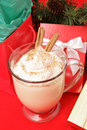 Eggnog and Christmas Presents Royalty Free Stock Photography