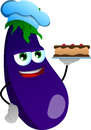 Eggplant as confectioner vector style illustrated vector format is available Stock Photo