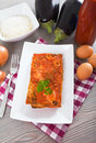 Eggplant Parmigiana. Royalty Free Stock Images