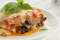Eggplant parmigiano appetizer of Stock Images