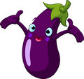 Eggplant  Presenting Something Stock Images