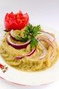 Eggplant salad - Romanian cuisine Stock Photo