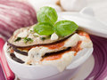 Eggplants parmigiana Stock Photo