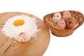 Eggs afraid Royalty Free Stock Photo