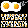 Eggs alphabet Royalty Free Stock Photo