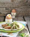 Eggs asparagus easter breakfast Royalty Free Stock Photography