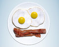 Eggs bacon d rendering of Stock Image