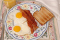 Eggs, Bacon and Toast Royalty Free Stock Images