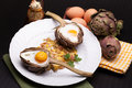 Eggs Baked In Artichoke Royalty Free Stock Image