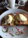 Eggs Benedict on a sunny Sunday morning